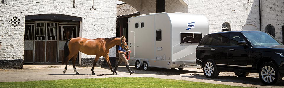 Eventa trailers incorporate living accommodation and transport for the horses